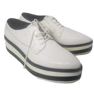 Zara trafaluc platform sneakers white size 38